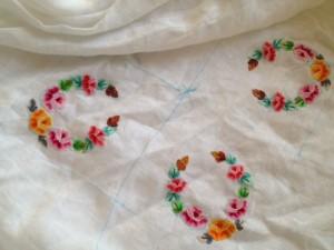 nappe avec des roses 1